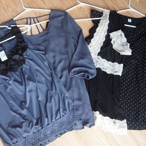 Maurices and Old Navy lot of tops, sz Large